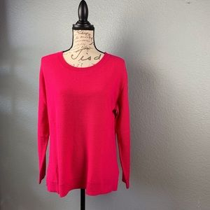 Joie. Hot Pink Cashmere Blend Sweater Size M